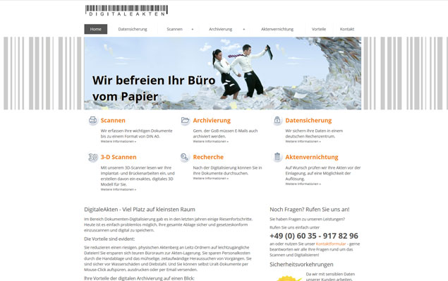 Webseite  - Redesign DigitaleAkten