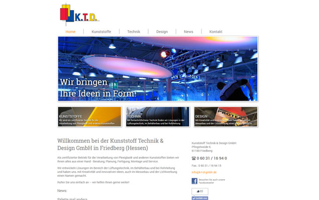 Webdesign - Kunststoff Technik & Design GmbH in Friedberg (Hessen)
