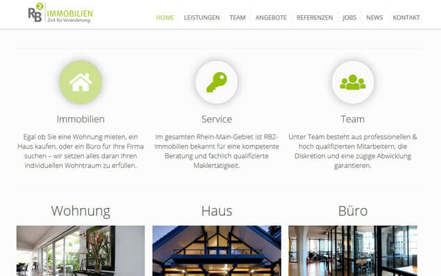 Responsive Immobilien Webseite